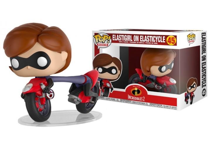 "Pop! Rides Фигурка Эластики на мотоцикле из мультфильма ""Суперсемейка"""