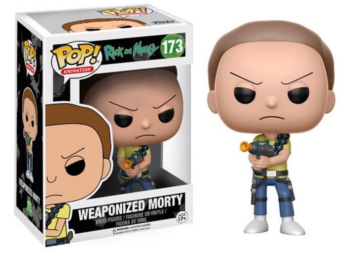 """Pop! Фигурка Морти с оружием из мультсериала """"Рик и Морти"""""""