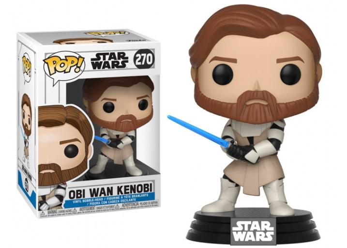 """Pop! Фигурка Оби-Вана Кеноби из мультсериала """"Войны клонов"""""""