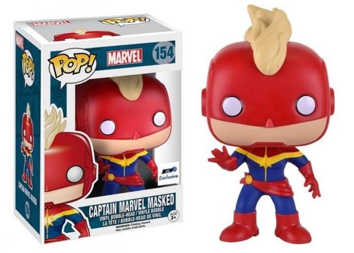 Pop! Фигурка Капитана Марвел в маске из комиксов Marvel