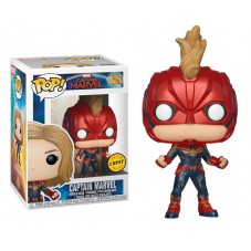 "Pop! Фигурка Капитана Марвел в маске из фильма ""Captain Marvel"""