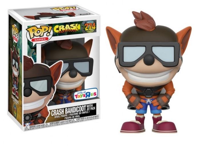 """Pop! Фигурка Крэша с реактивным ранцем из игры """"Crash Bandicoot"""""""