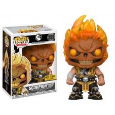 """Pop! Фигурка Скорпиона с пылающим черепом из """"Mortal Kombat"""""""