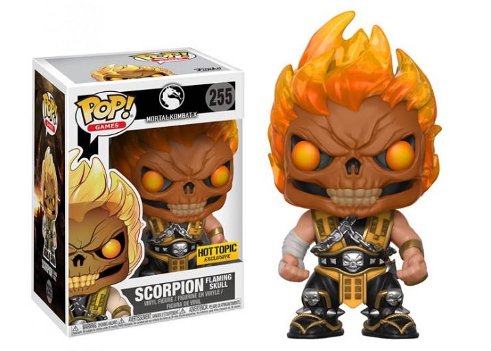 """Pop! Фигурка Скорпиона с пылающим черепом из """"Mortal Kombat X"""""""