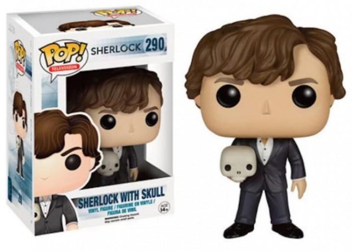 """Pop! Фигурка Шерлока с черепом из сериала """"Шерлок"""""""